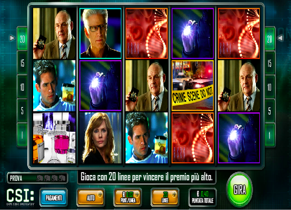 Csi slot machine online