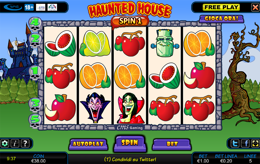 Haunted house slot machine gioca gratis