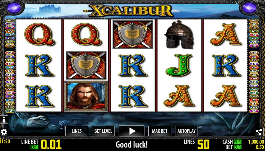 slot machine xcalibur