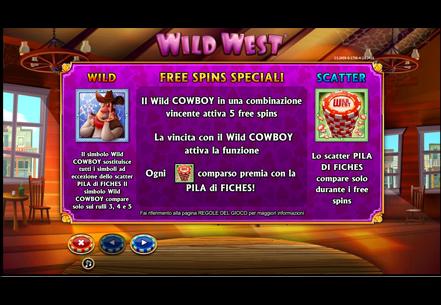 Wild west slot trucchi