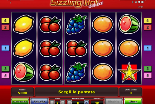 slot machine gratis sizzling hot