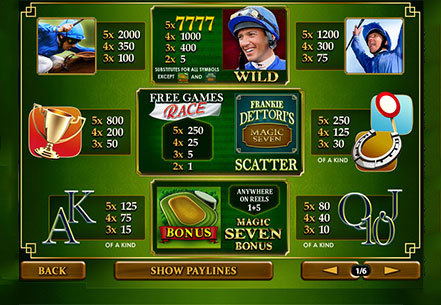 Gioca a Frankie Dettori Magic 7 su Casino.com Italia