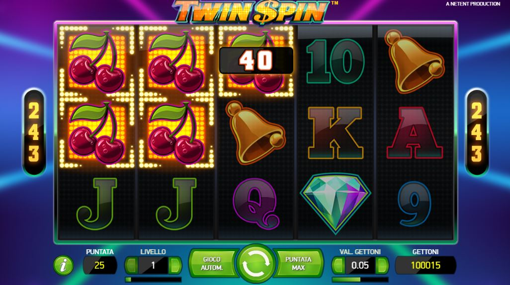 Twin Spin slot - spil Twin Spin slot online gratis